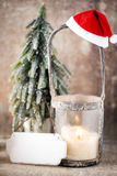 Candlestick. Christmas lantern. Cristmas decoration, greeting ca Royalty Free Stock Image