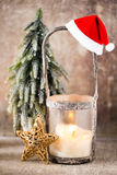 Candlestick. Christmas lantern. Cristmas decoration, greeting ca Stock Photo