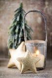 Candlestick. Christmas lantern. Cristmas decoration, greeting ca Stock Photography