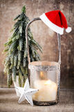 Candlestick. Christmas lantern. Cristmas decoration, greeting ca Stock Image