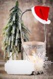 Candlestick. Christmas lantern. Cristmas decoration, greeting ca Royalty Free Stock Photo