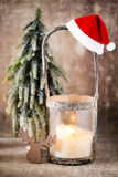 Candlestick. Christmas lantern. Cristmas decoration, greeting ca Royalty Free Stock Photos