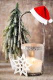 Candlestick. Christmas lantern. Cristmas decoration, greeting ca Royalty Free Stock Photos