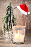 Candlestick. Christmas lantern. Cristmas decoration, greeting ca Stock Image