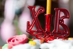Candlestick easter Royalty Free Stock Photography