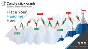 Candlestick and financial graph charts, Infographic presentations template. Candlestick and financial graph charts, Infographic presentations template, Global Royalty Free Stock Image