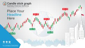 Candlestick and financial graph charts, Infographic presentations template. Candlestick and financial graph charts, Infographic presentations template, Global Stock Photo