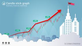 Candlestick and financial graph charts, Infographic presentations template. Candlestick and financial graph charts, Infographic presentations template, Global Stock Photos