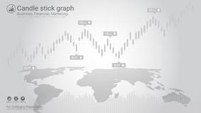 Candlestick and financial graph charts, Infographic presentations template. Candlestick and financial graph charts, Infographic presentations template, Global Royalty Free Stock Images