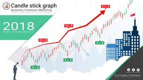 Candlestick and financial graph charts, Infographic presentations template. Candlestick and financial graph charts, Infographic presentations template, Global Royalty Free Stock Photo