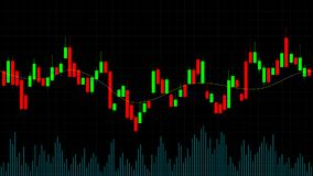 Candlestick forex trading online chart. Financial market candlestick graph stockbrokers creative concept. Candlestick forex trading online chart. Financial Royalty Free Stock Photo