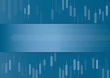 Candlestick giełdy papierów wartościowych tła wektor ilustracja wektor