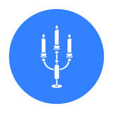 Candlestick lamp icon of vector illustration for web and mobile Stock Photo