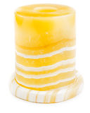 Candlestick made of onyx isolated Stock Photo