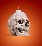 Candlestick od ludzkiej czaszki Zdjęcie Royalty Free
