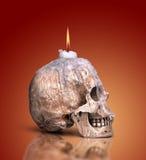 Candlestick od ludzkiej czaszki Obrazy Royalty Free