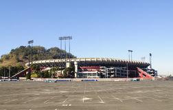 Candlestick Park. Historic Candlestick Park, home of the San Francisco 49er's football team, soon to be torn down as they have a new stadium being built in Santa stock image