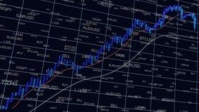 Candlestick pattern of Forex trading, 3d illustration royalty free illustration