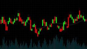 Candlestick rynki walutowi handluje online mapę Rynku finansowego candlestick wykresu maklerów kreatywnie pojęcie ilustracji