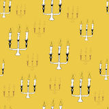 Candlestick seamless pattern Stock Images