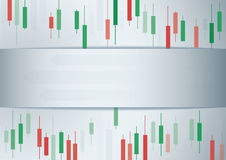 Candlestick stock exchange background vector Stock Image