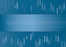 Candlestick stock exchange background vector Royalty Free Stock Images