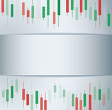 Candlestick stock exchange background vector Royalty Free Stock Image