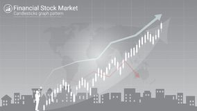 Candlestick strategy indicator with bullish and bearish engulfing pattern. Candlestick patterns is a style of financial chart, Suitable for forex stock market stock illustration
