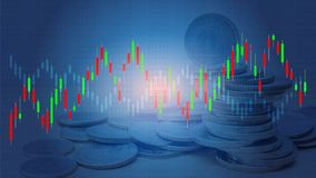 Candlestick strategy indicator with bullish and bearish engulfing pattern. Royalty Free Stock Image