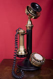 Candlestick Telephone on Table Royalty Free Stock Photo