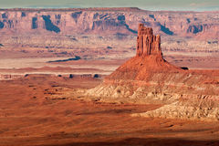 Candlestick Tower. Imposing Candlestick Tower with Canyonland Mesas in Background Royalty Free Stock Photography