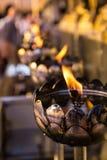 Candlestick Wat Phrathat Doi Suthep RajaWaraWihara przy Tajlandia Zdjęcie Royalty Free
