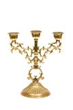 Candlestick on white. Royalty Free Stock Photo