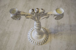 Candlestick white isolate for two candles. ! stock photo