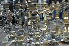 Candlesticks. A lot of candlesticks Stock Image