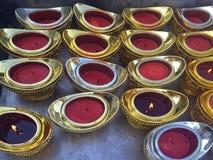 Candlesticks like shoe shaped gold stock photo