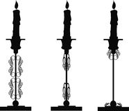 Candlesticks in silhouette Royalty Free Stock Photo