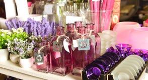 Candlesticks to a shelf Royalty Free Stock Photos