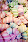 Candy. Abundance of colourful twisted marshmallow candy Royalty Free Stock Photography