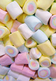 Candy. Abundance of colourful twisted marshmallow candy Royalty Free Stock Images