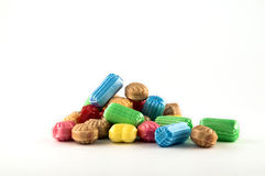 Candy. Sweet candy with different colours at white background Stock Photography