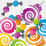 Candy. Illustration of different colorful candy Stock Image