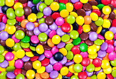 Candy. Colored candy in a big pile Stock Photos