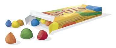 Candy. Illustration of a box of candy Stock Image
