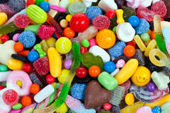 Candy. Assorted bright colorful candy shapes stock image
