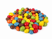 Candy. Candies - glazed chocolate peanuts isolated on white Stock Photo