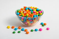 Candy. Colored candy inside glass bowl Royalty Free Stock Photo