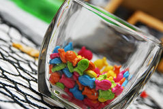 Candy. On the tables of a reception stock images