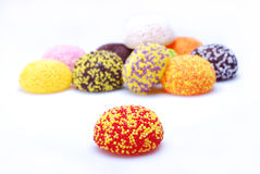 Candy. Colored candy on white background royalty free stock image