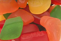 Candy. Full frame with winegum candy Royalty Free Stock Images